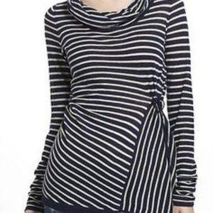 Anthro Rosie Neira Striped Cowl Neck Sweater